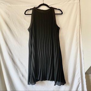 Pink Martini Pleated Black Mini Dress
